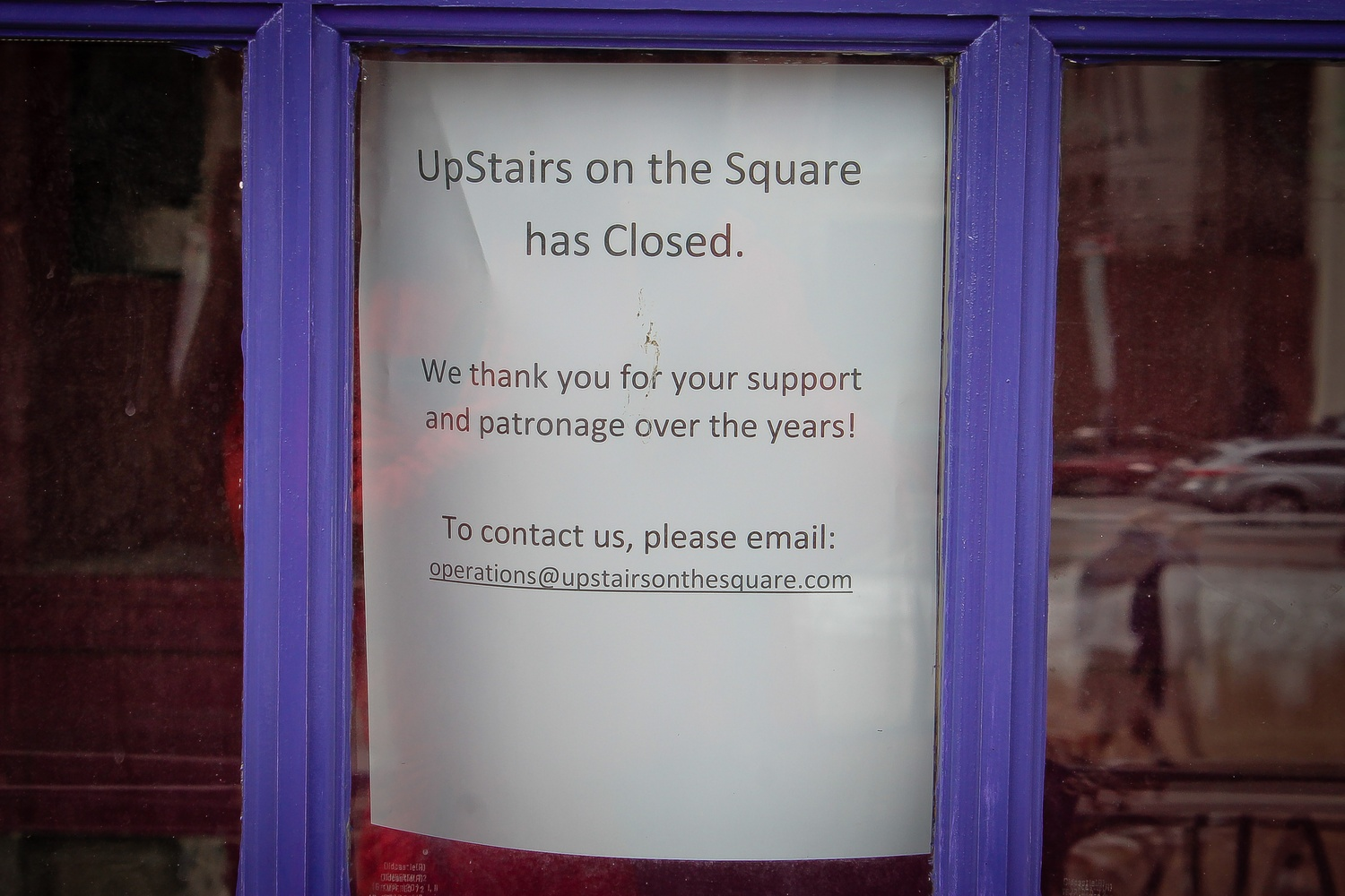 UpStairs on the Square, a New American and Italian restaurant, has recently announced its closure this year.