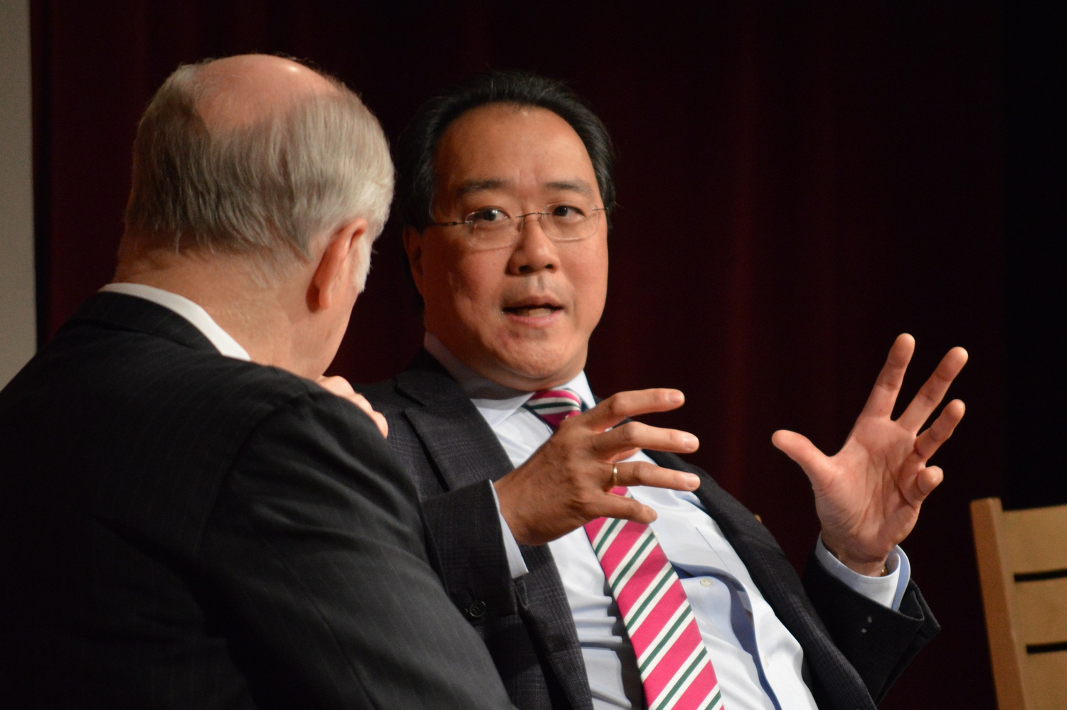 Cellist Yo-Yo Ma '76 — seen here at an event in 2014 — joined six Harvard students to discuss the importance of art in bridging various personal and global gaps in a virtual event hosted by Harvard's Office of the Arts on Monday.