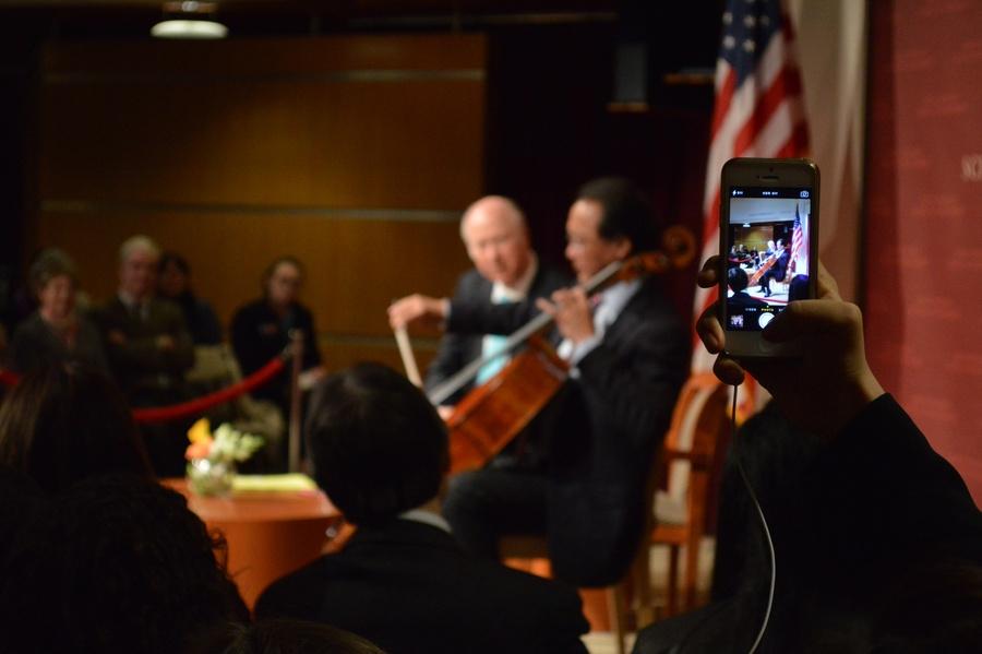 Yo-Yo Ma '76 Brings Music to IOP | News | The Harvard Crimson
