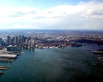 Boston from plane