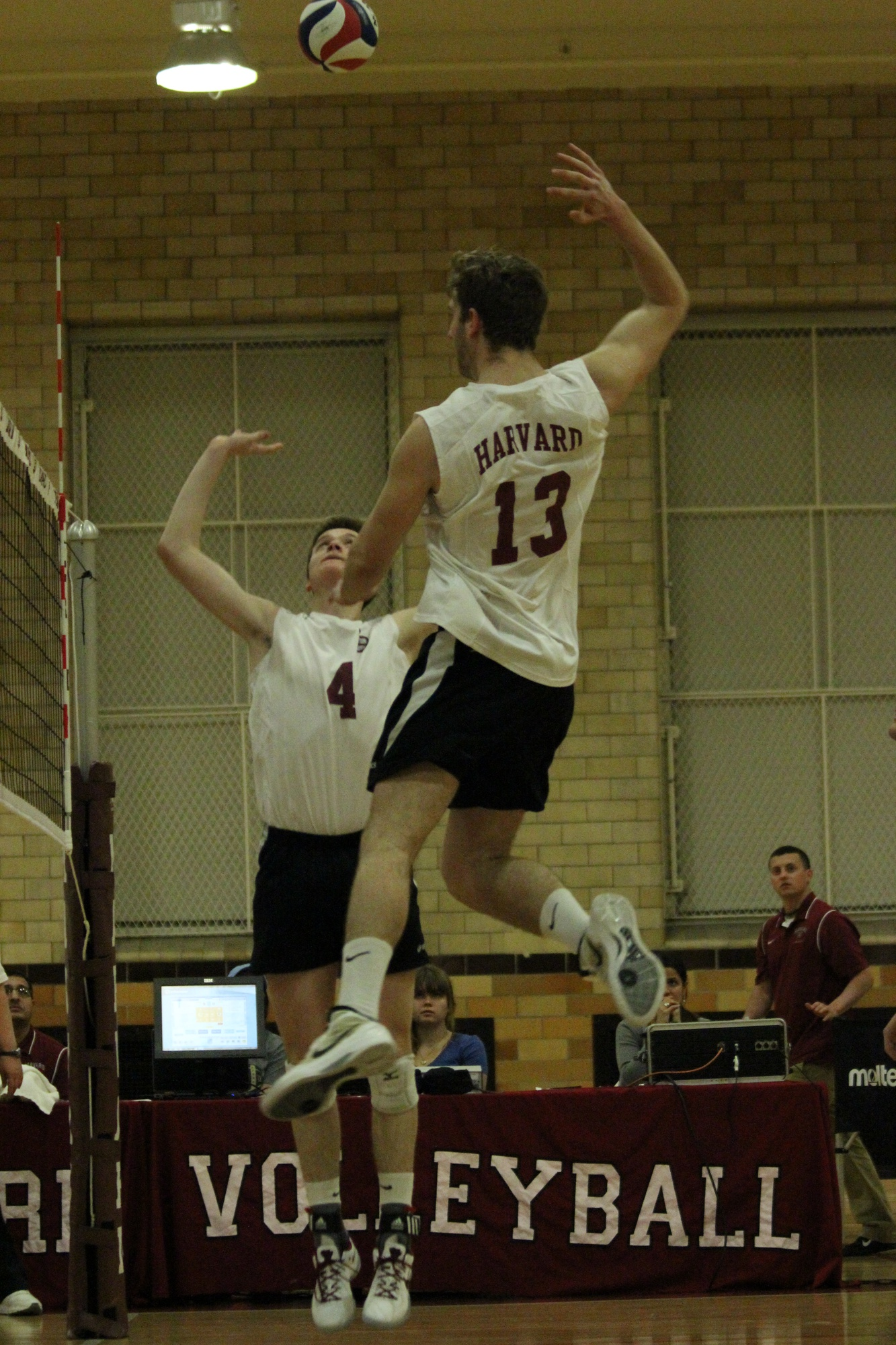 Senior middle blocker Kyle Rehkemper, shown here in previous action, will spearhead the Crimson offense against Princeton on Thursday. Harvard has defeated the Tigers twice this season, and a victory over its conference rival will propel the Crimson into the EIVA championship game.