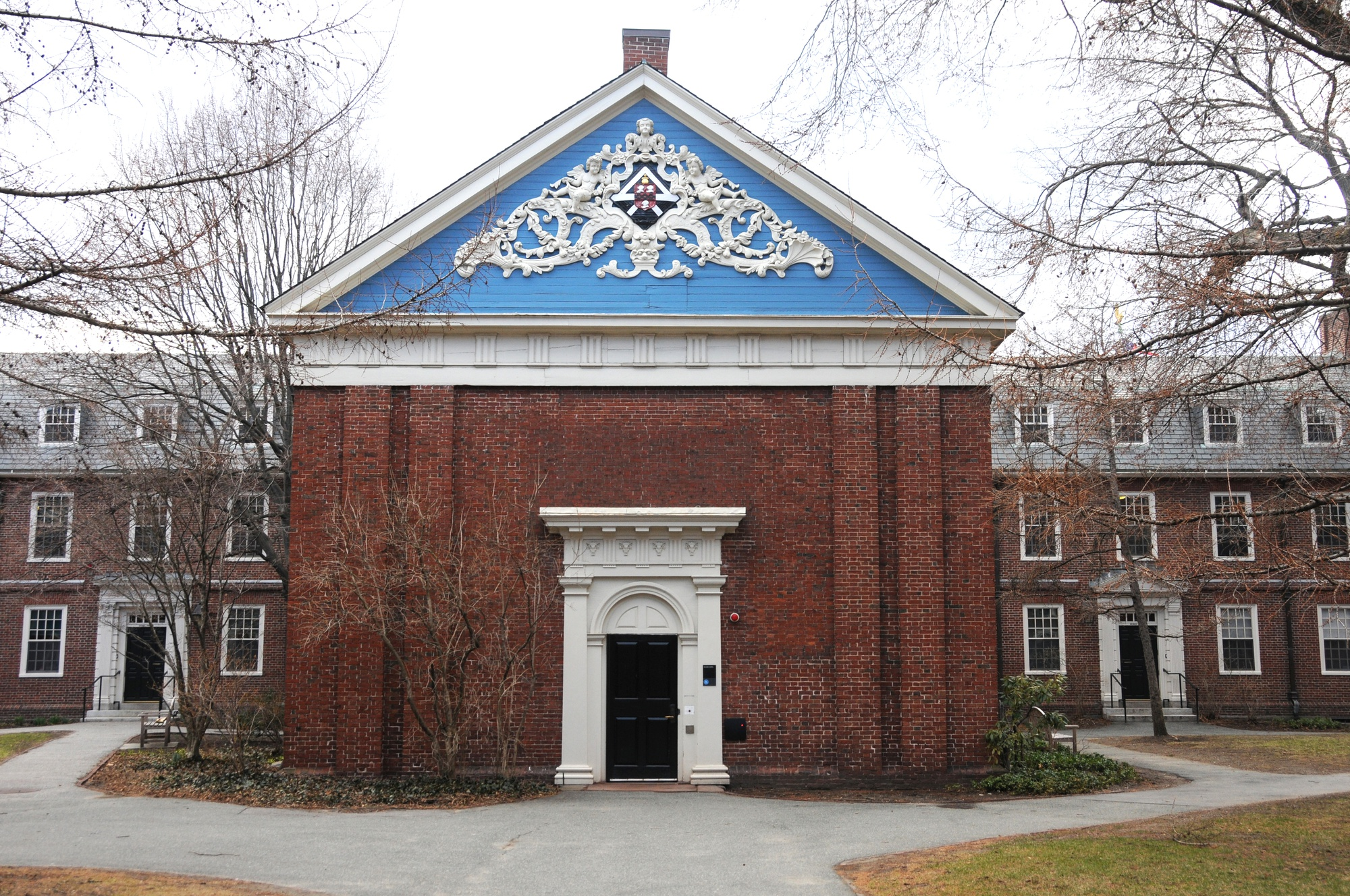Completed in 1744, Holden Chapel is the third oldest building at Harvard and one of the oldest college building in the nation. Holden Chapel is located in Holden Quadrangle in Harvard Yard.