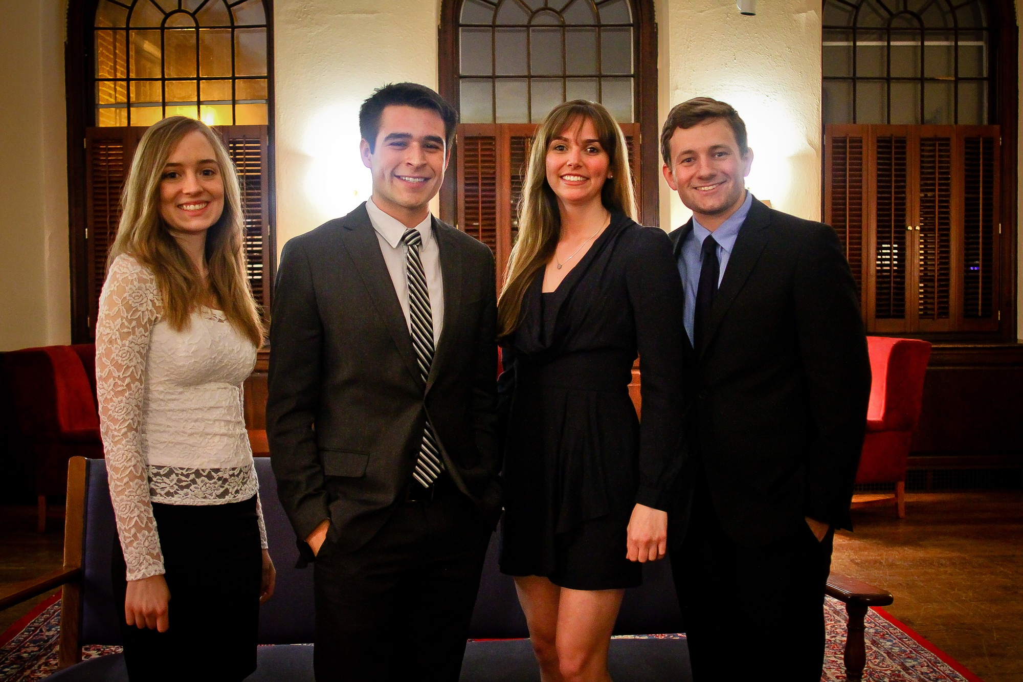 Ivy Orators Jenna D. Martin '14 and Zack W. Guzman '14, and Harvard Orators Christy L. Disilvestro '14 and Adam J. Conner '14 will speak at this year's College Class Day.