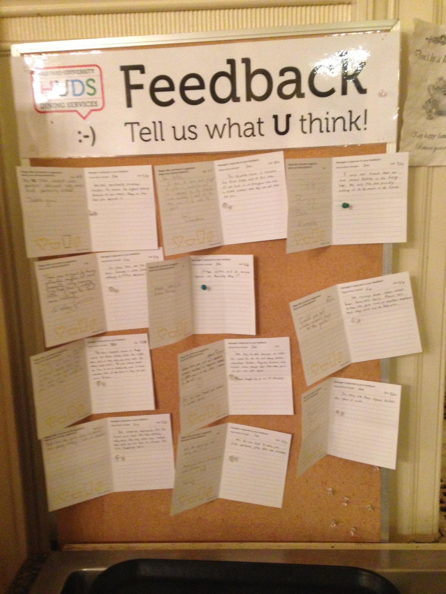 Kirkland's HUDS Comment Cards