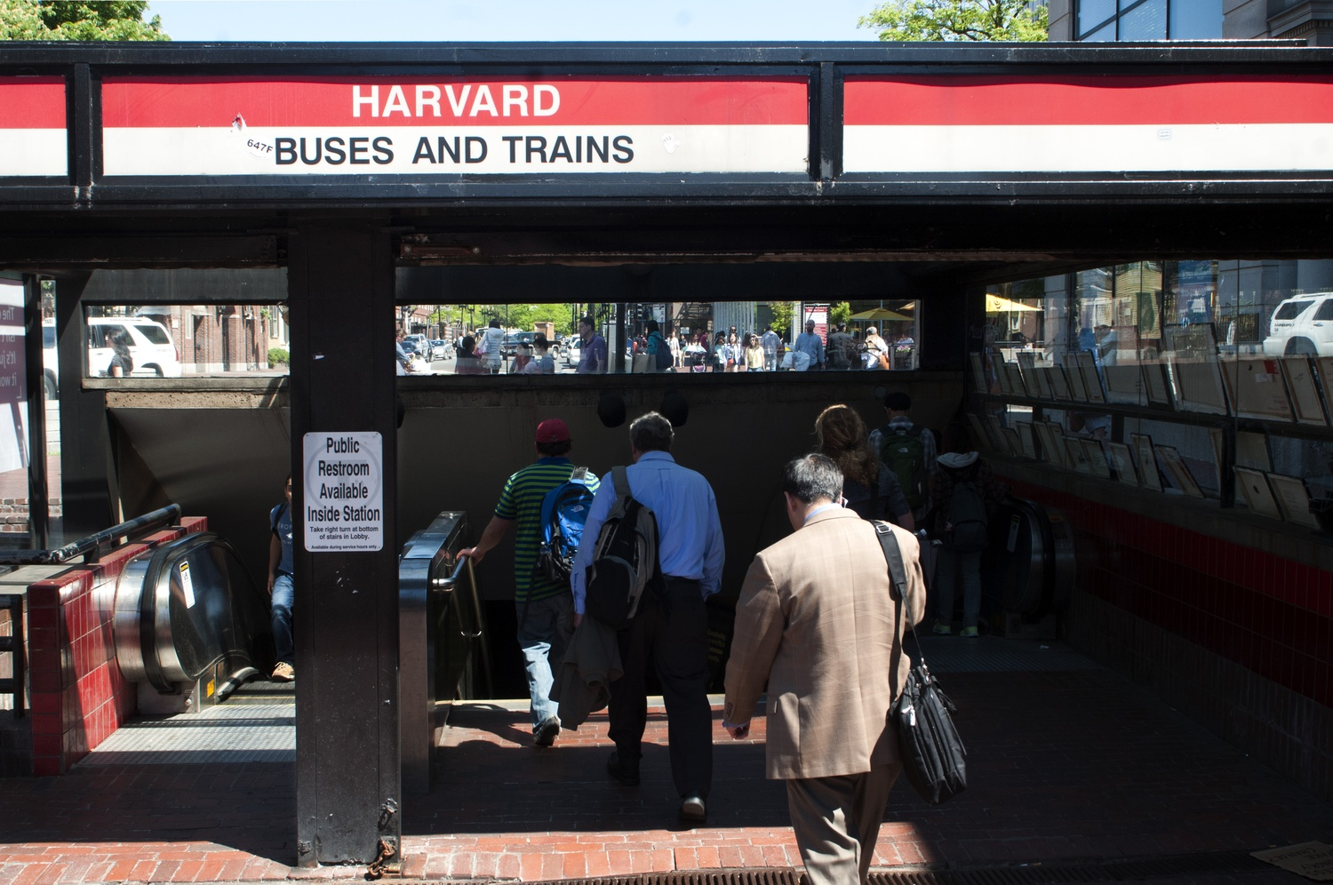 The Harvard Square T-Station in 2014.