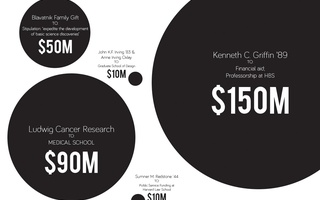 Relative Size of Donations to Harvard