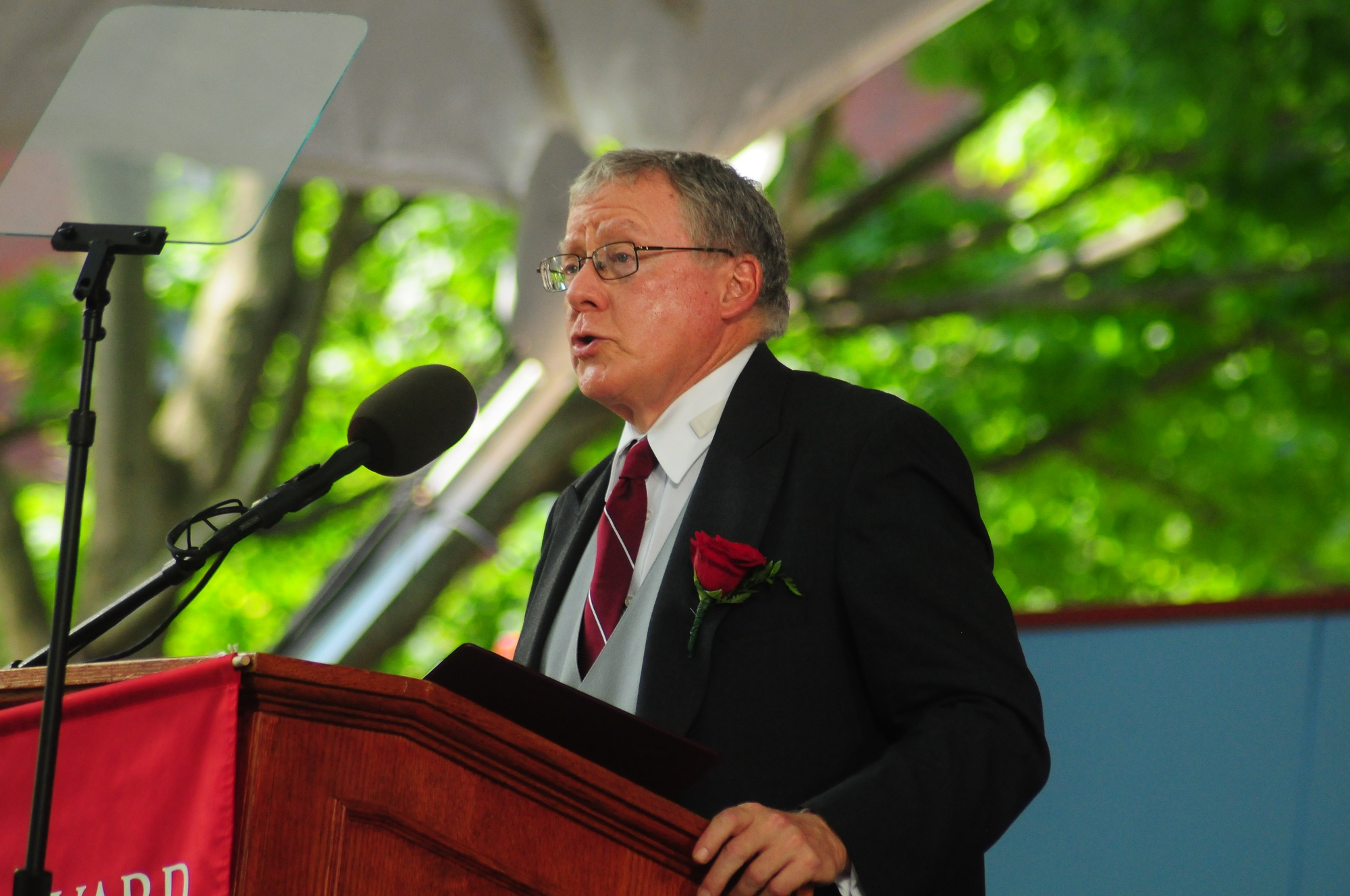 University Treasurer James F. Rothenberg '68, pictured at Commencement in 2013, will step down from his post in July 2014.