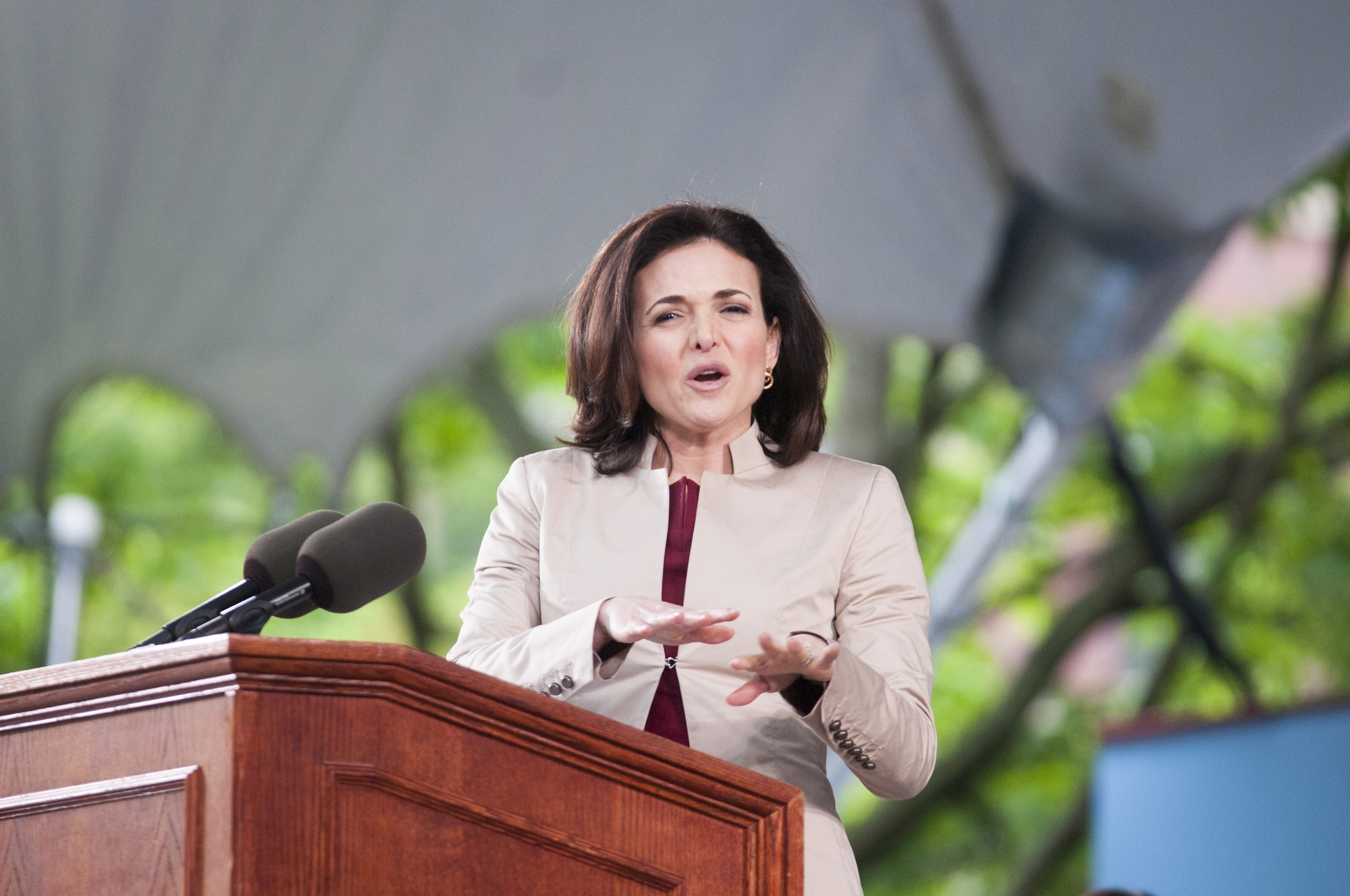 Sheryl K. Sandberg '91, the chief operating officer of Facebook, discusses her time at Harvard as an undergraduate and gender inequality in the workplace as the 2014 College Class Day speaker.