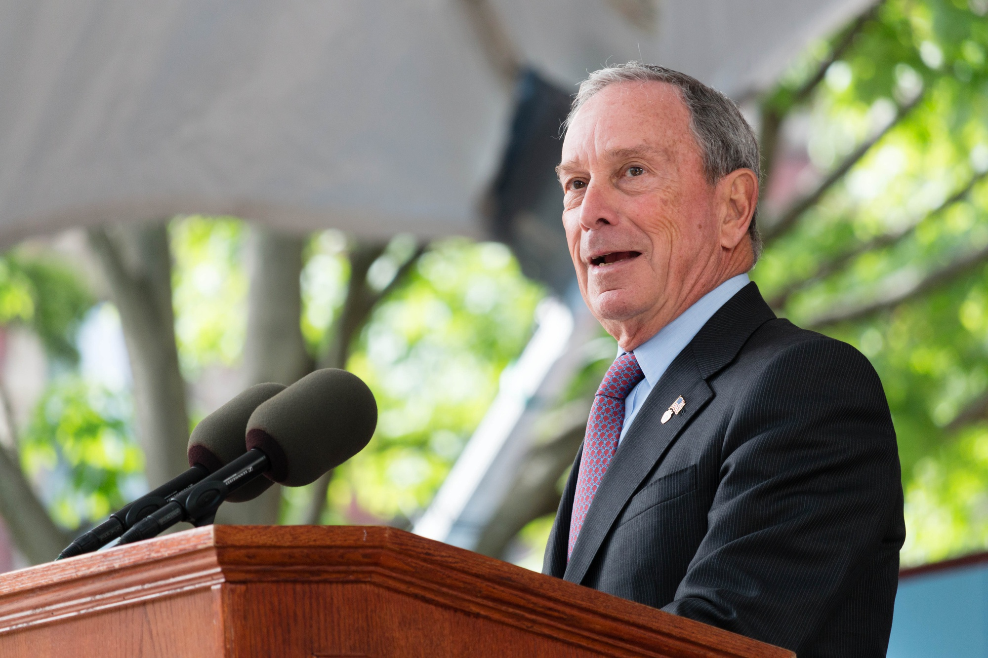 Former New York City mayor Michael R. Bloomberg speaks out against the 'censorship' of ideas in universities, specifically those in the Ivy League.