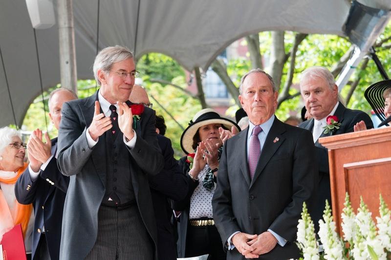 Audience Applauds Bloomberg