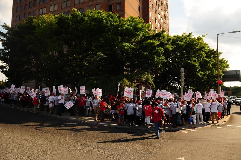 March Outside the Boston-Cambridge Doubletree Hotel