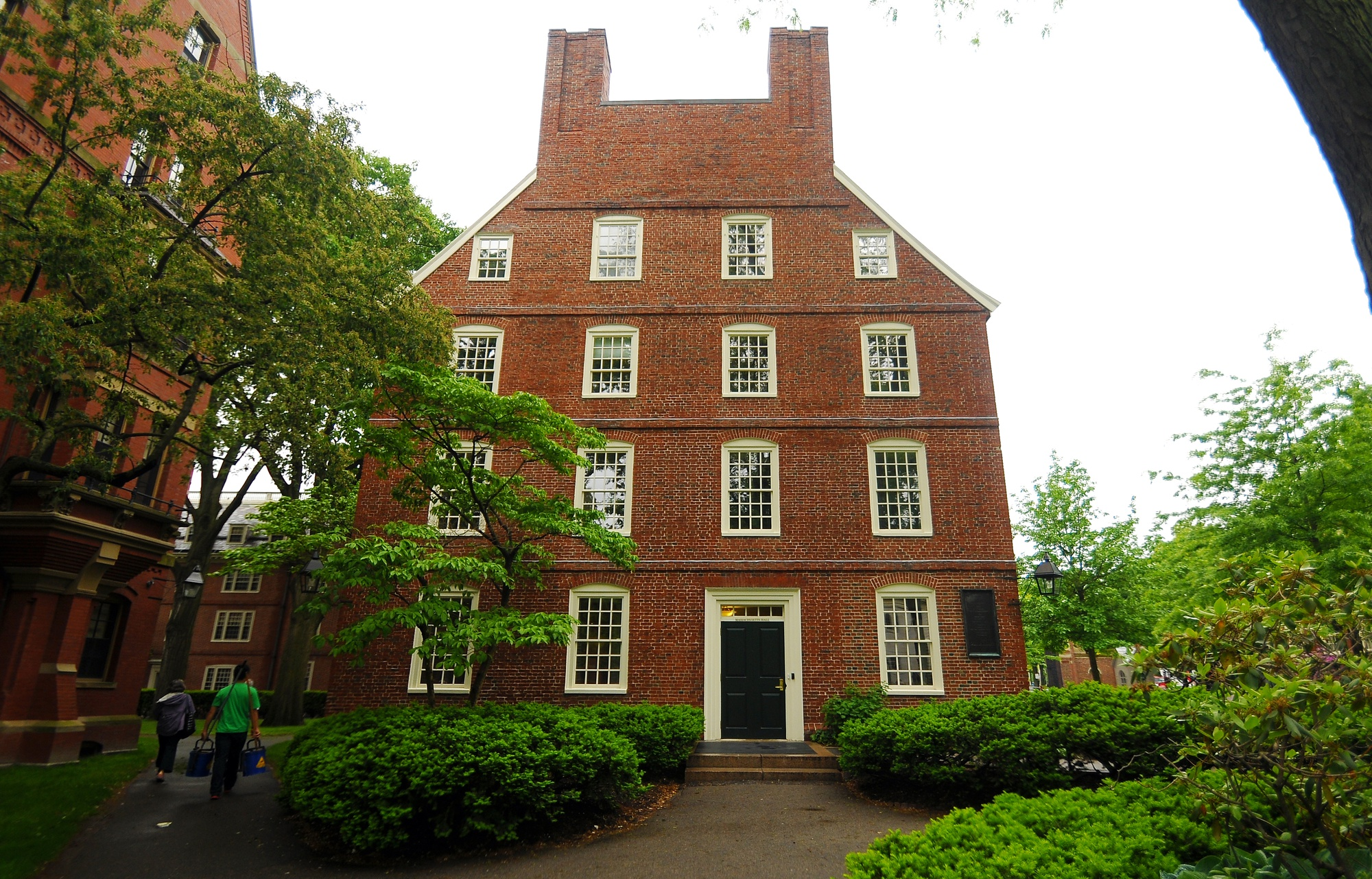 Massachusetts Hall, the home of Harvard's central administration, is pictured.