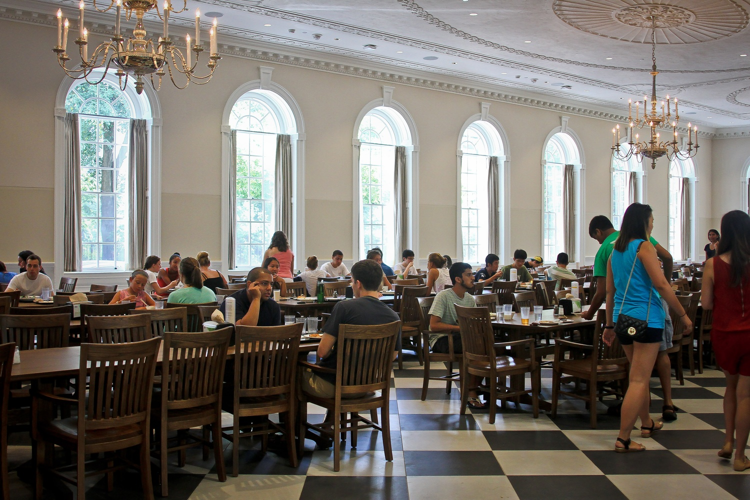 The renovation of Leverett's McKinlock Hall included the first dining hall renovation of the House Renewal process.
