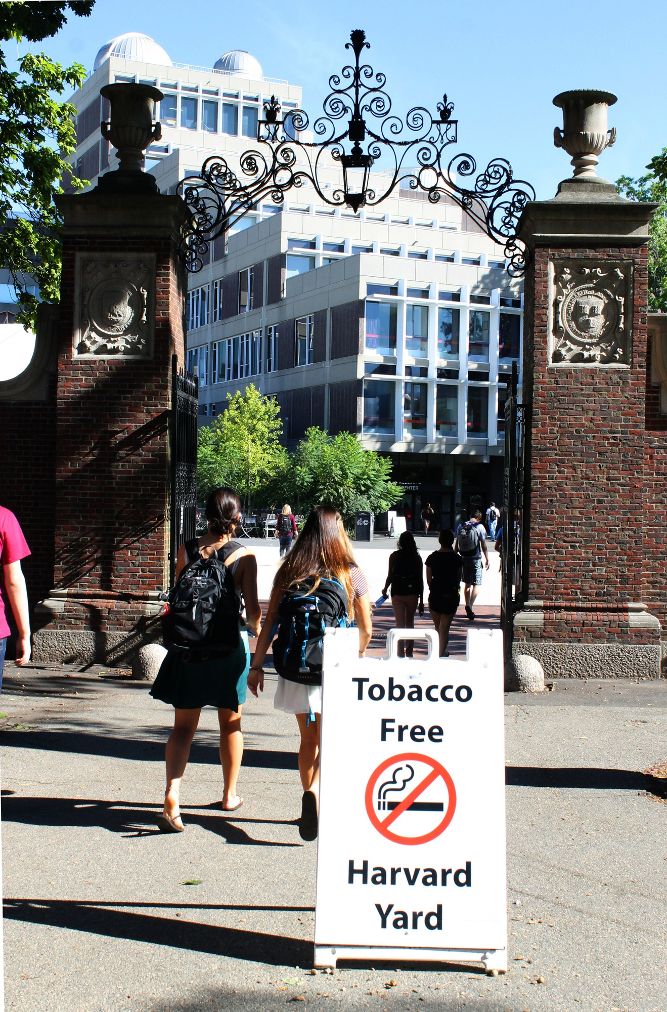As of Aug. 15, smoking has been banned in Harvard Yard.