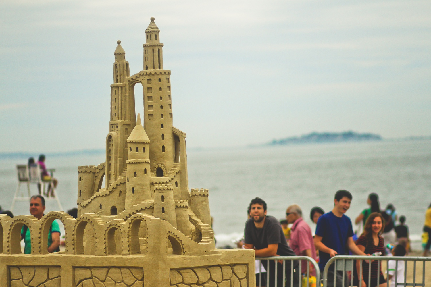 A sand castle stands at the annual Revere Beach National Sand Sculpting Festival, which lasted from July 18th to July 20th. The Festival attracted a wide variety of locals and tourists throughout the weekend.