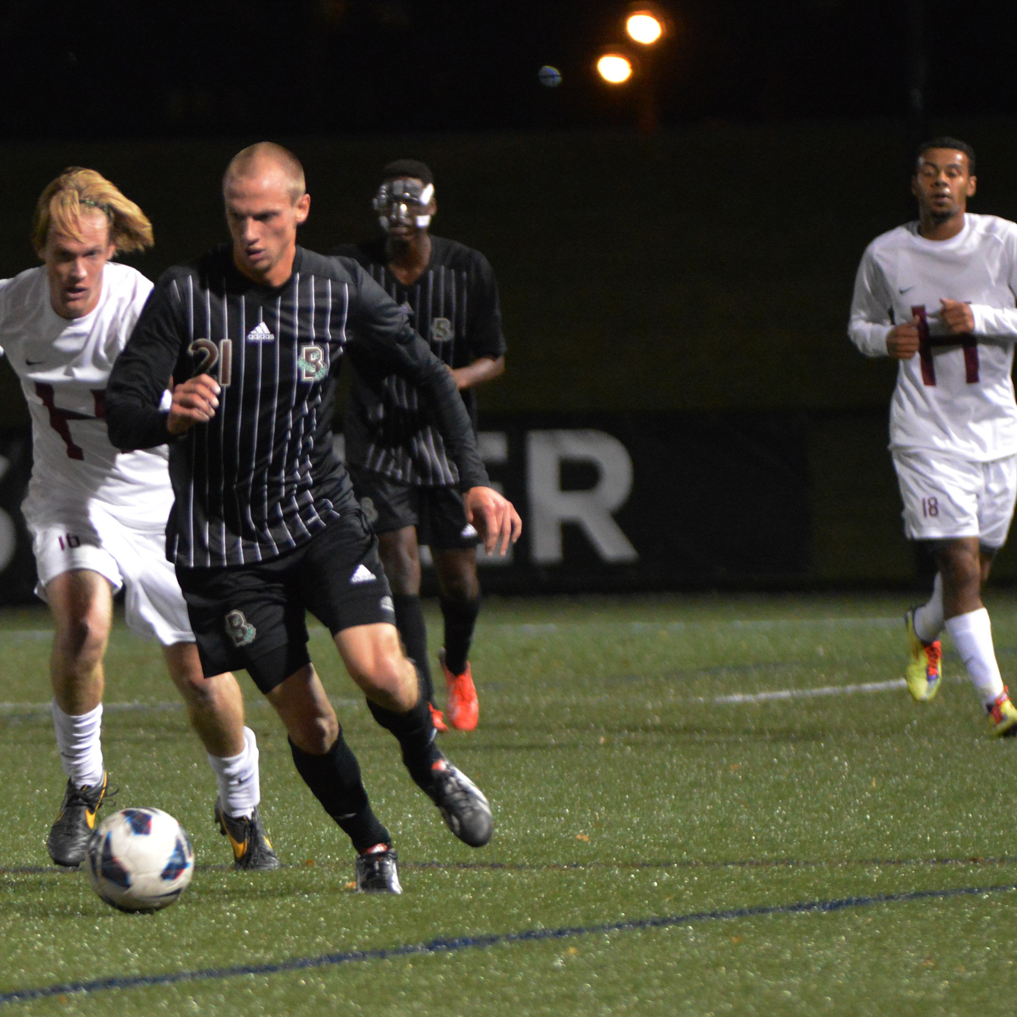 The Harvard men's soccer team lost its third straight game to open its 2014 campaign, falling to St. John's, 2-1.