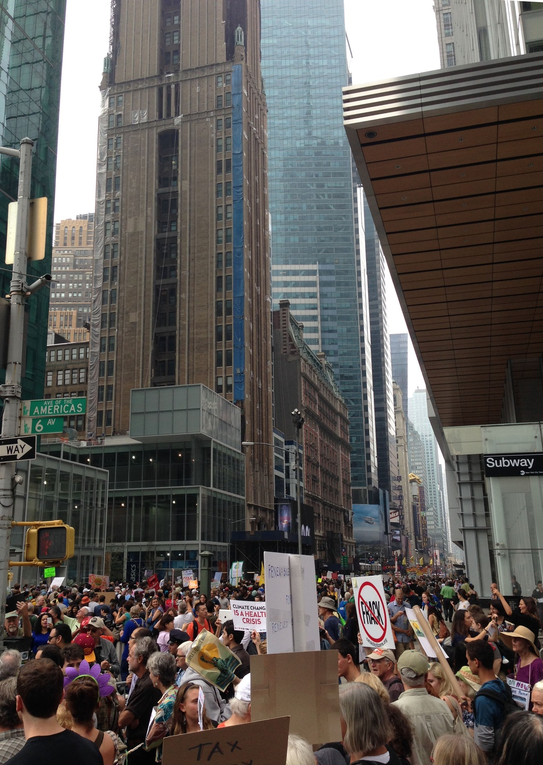 """Hundreds of thousands of people descended on Manhattan Sunday for the """"People's Climate March."""""""