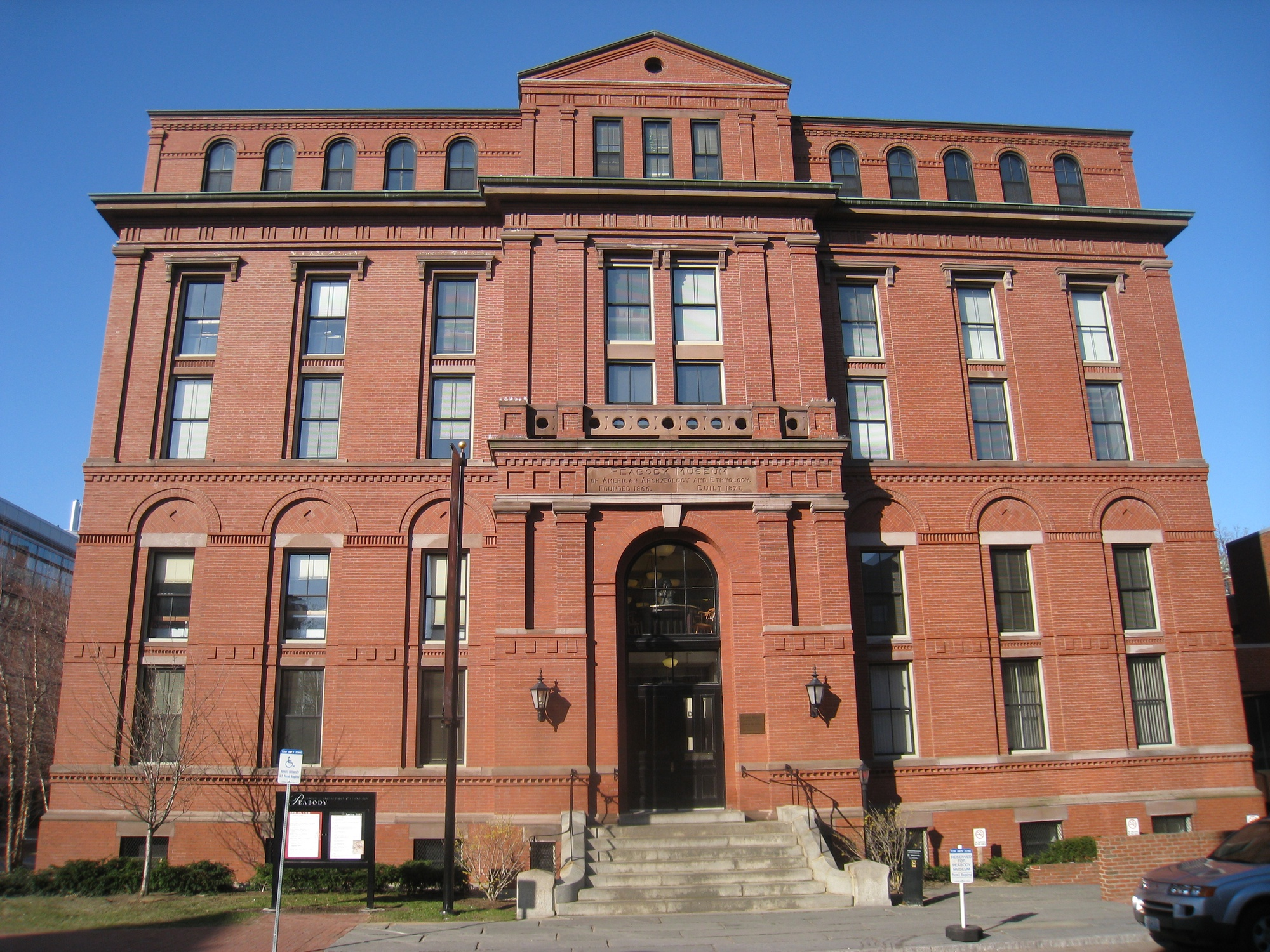 Many of the items found in Harvard Yard are stored in the Peabody Museum.