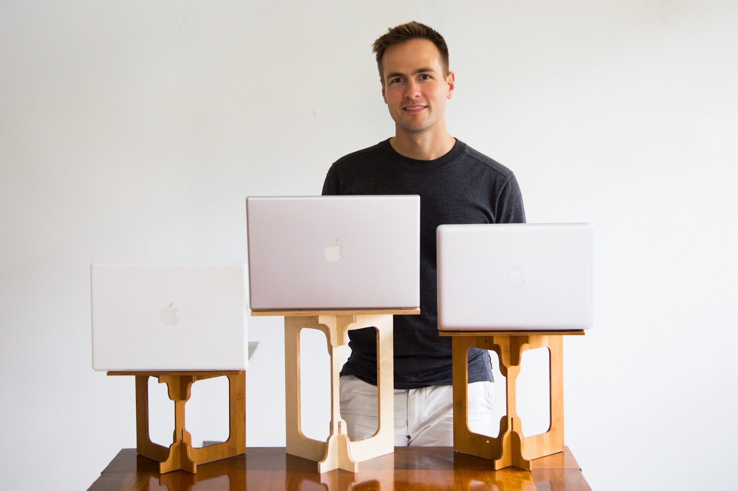 Luke A. Leafgren, resident dean of Mather House, has created a portable standing desk.