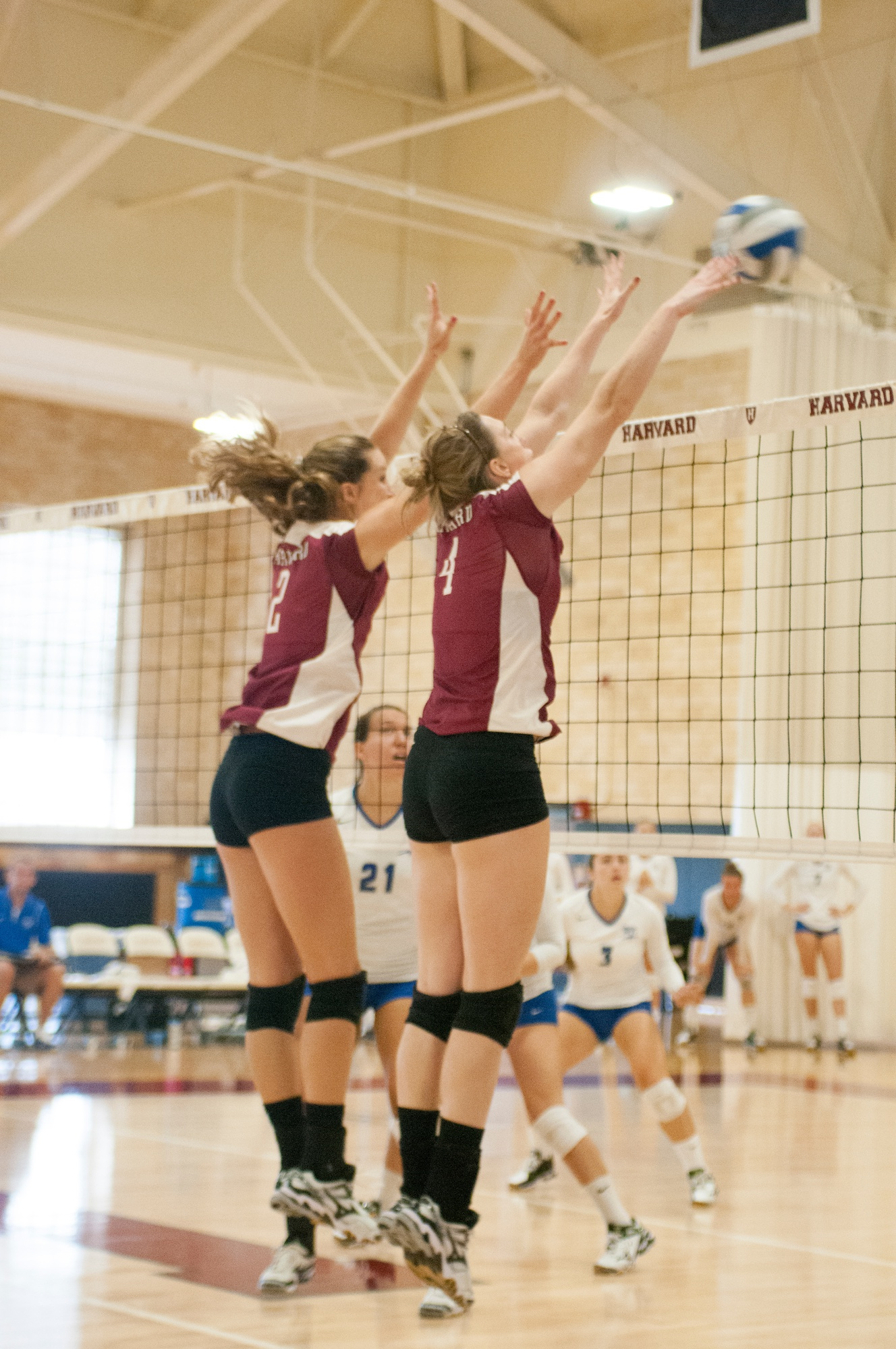 Dartmouth snapped the Harvard women's volleyball team's five-game win streak on Saturday, when the squad, shown here in earlier action, began Ivy League play.