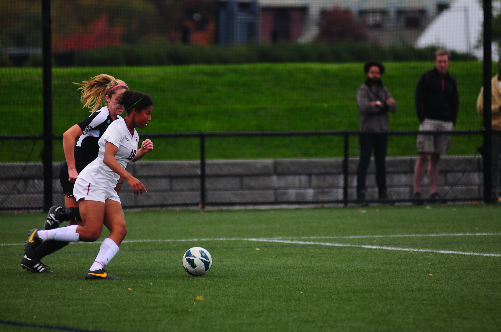 Sophomore forward Midge Purce, shown here in earlier action, tallied the squad's first goal en route to a 3-0 win over Penn.