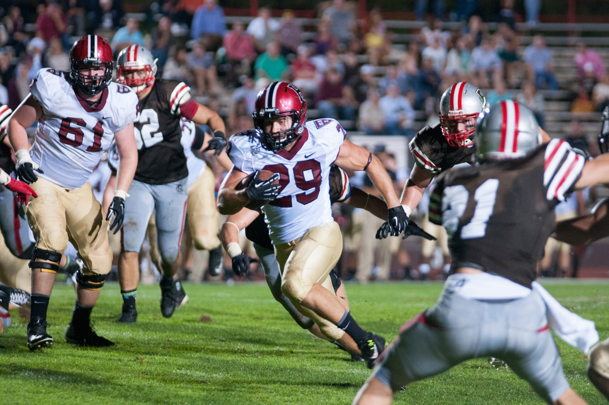 A 43-yard touchdown run marked the highlight of junior Paul Stanton's night as his squad took down Brown, 22-14.