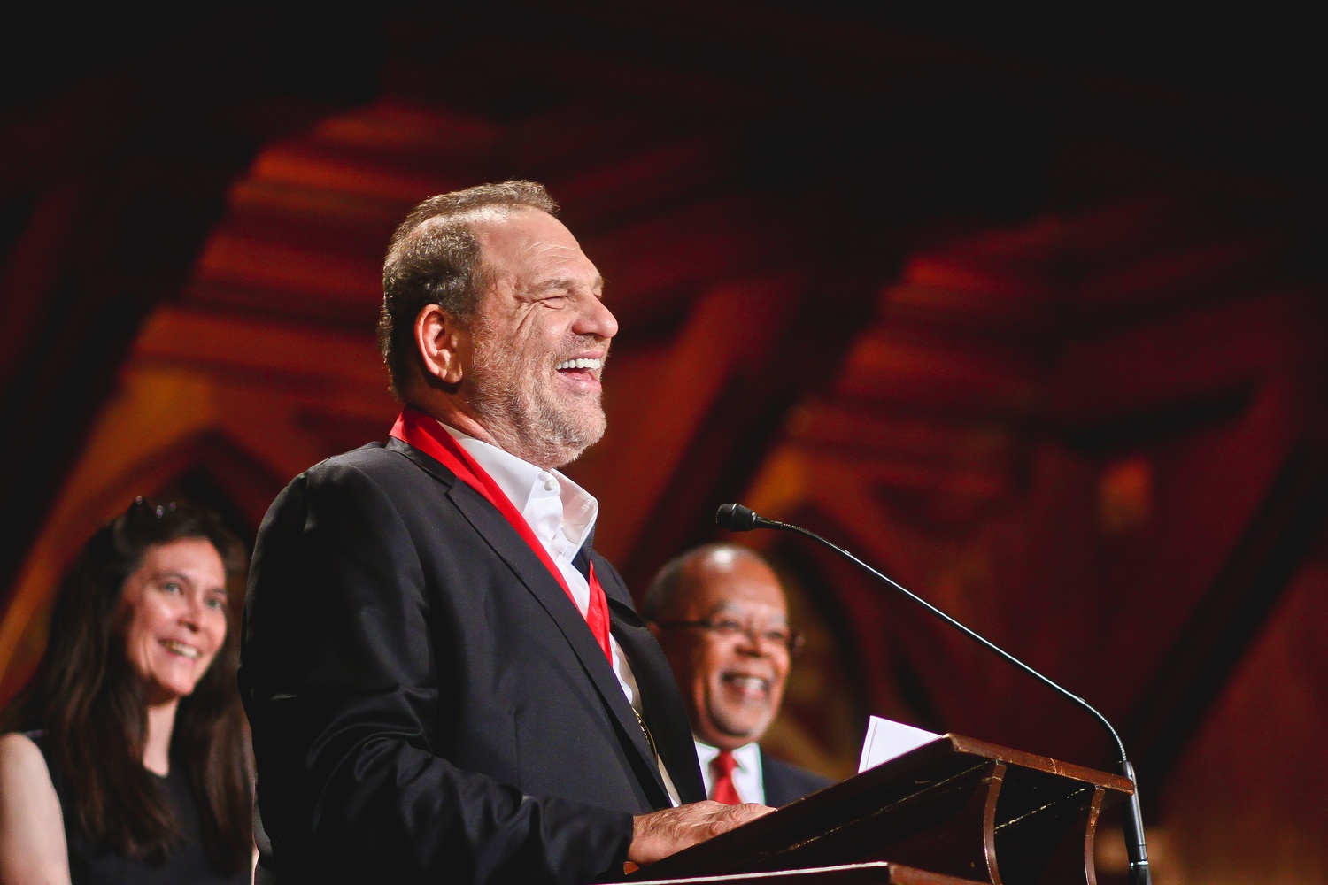 Harvey Weinstein receives the W.E.B. Du Bois medal in 2014.
