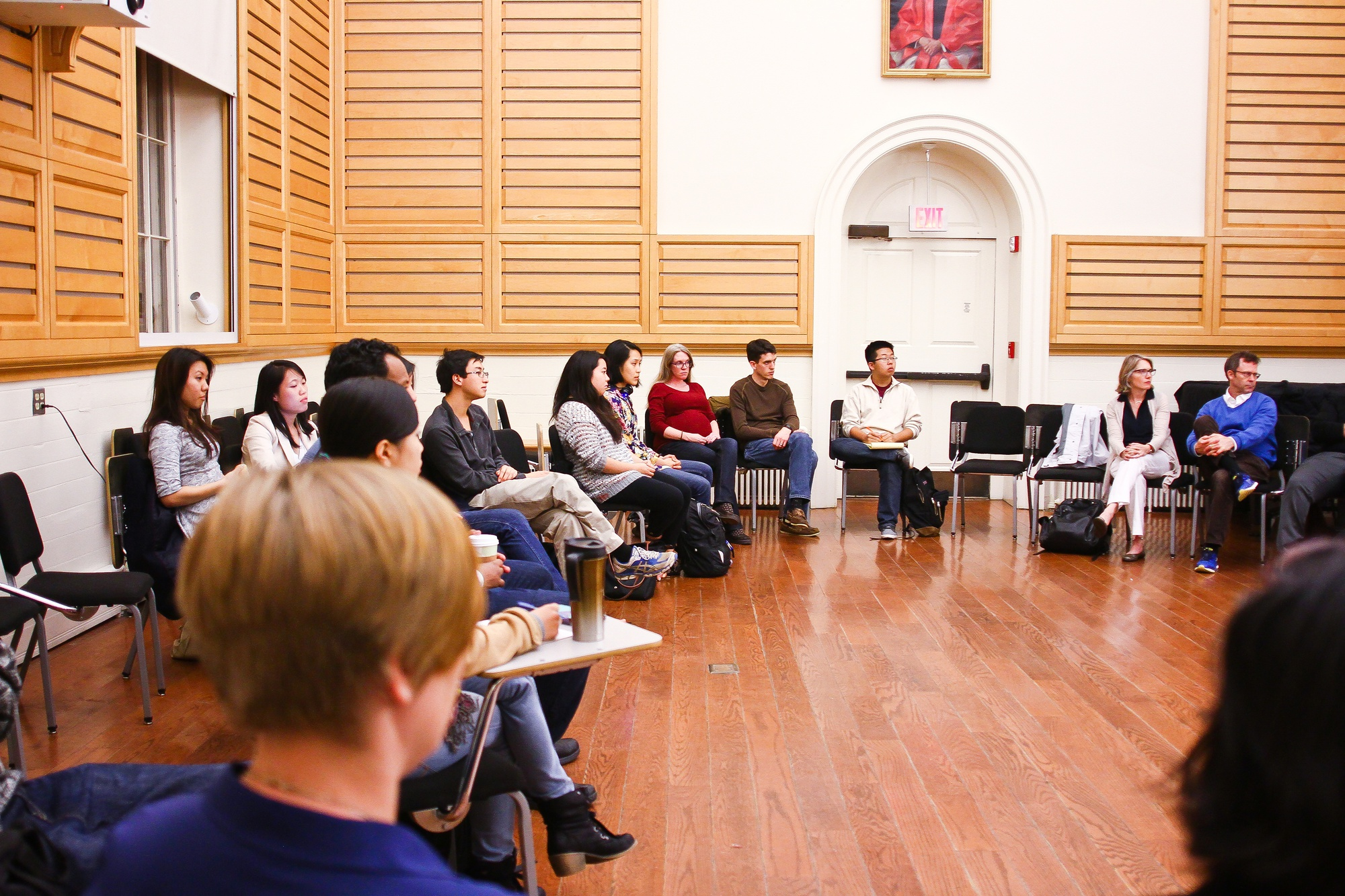 Concerned students gathered for a community conversation in Holden Chapel on Oct. 8 evening in regard to the recent string of emails targeting predominantly Asian-American women on campus.