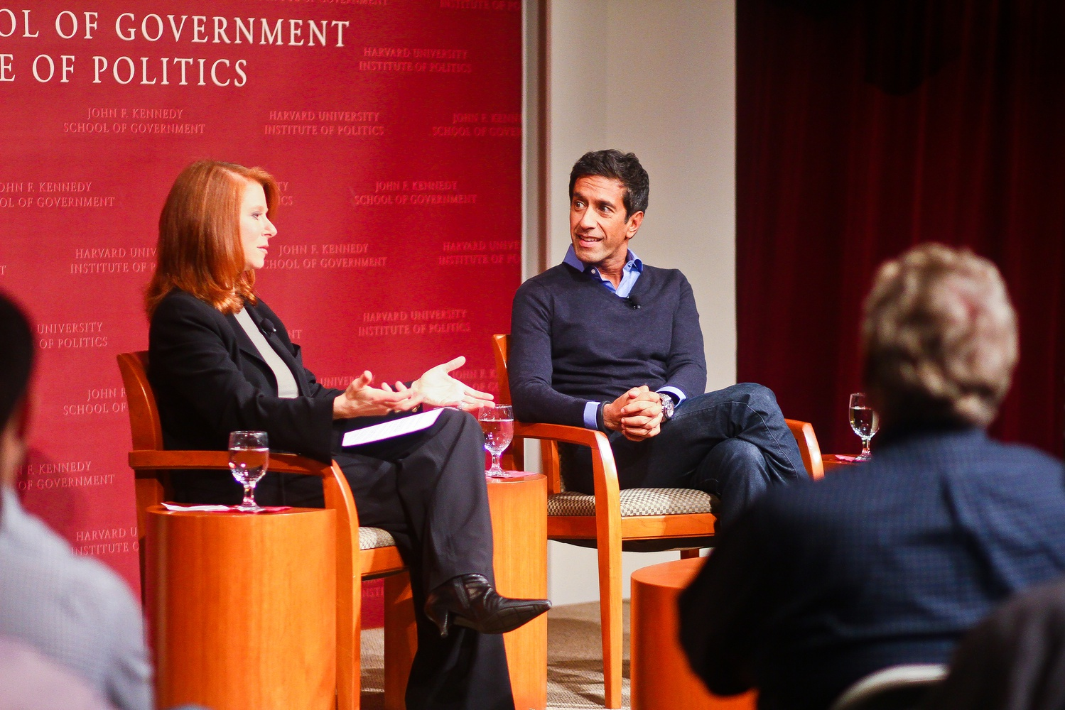 Dr. Sanjay Gupta, Chief Medical Correspondent at CNN, spoke about the potential of medical marijuana during an Institute of Politics forum event on Wednesday evening. The conversation was moderated by Dr. Staci Gruber, an Associate Professor of Psychiatry at Harvard Medical School.