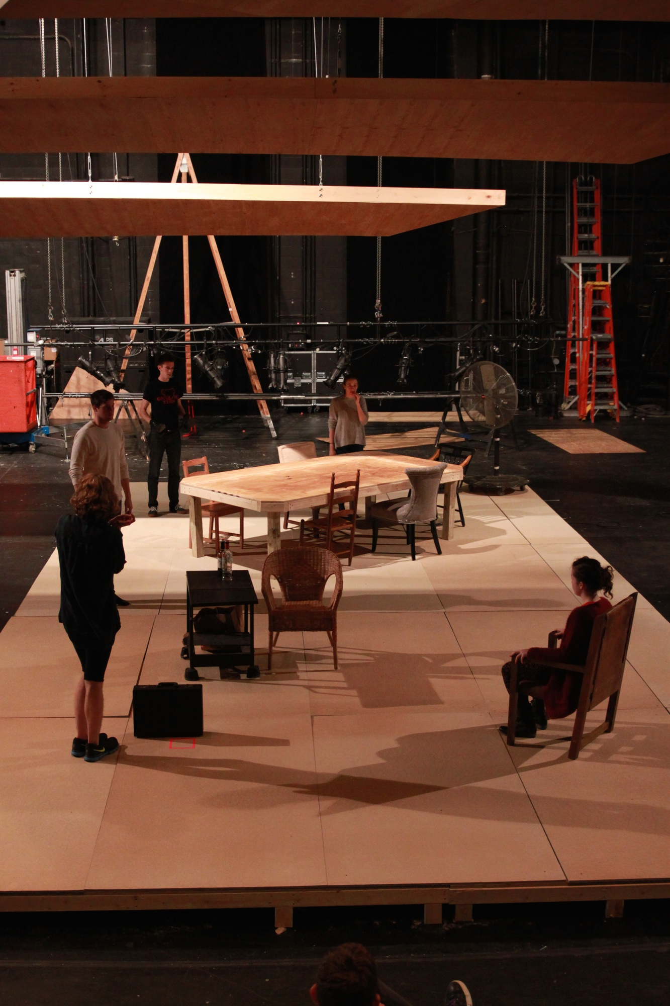 """Students rehearse for """"Little Murders,"""" the latest play to be produced as part of the Visiting Director's Program."""
