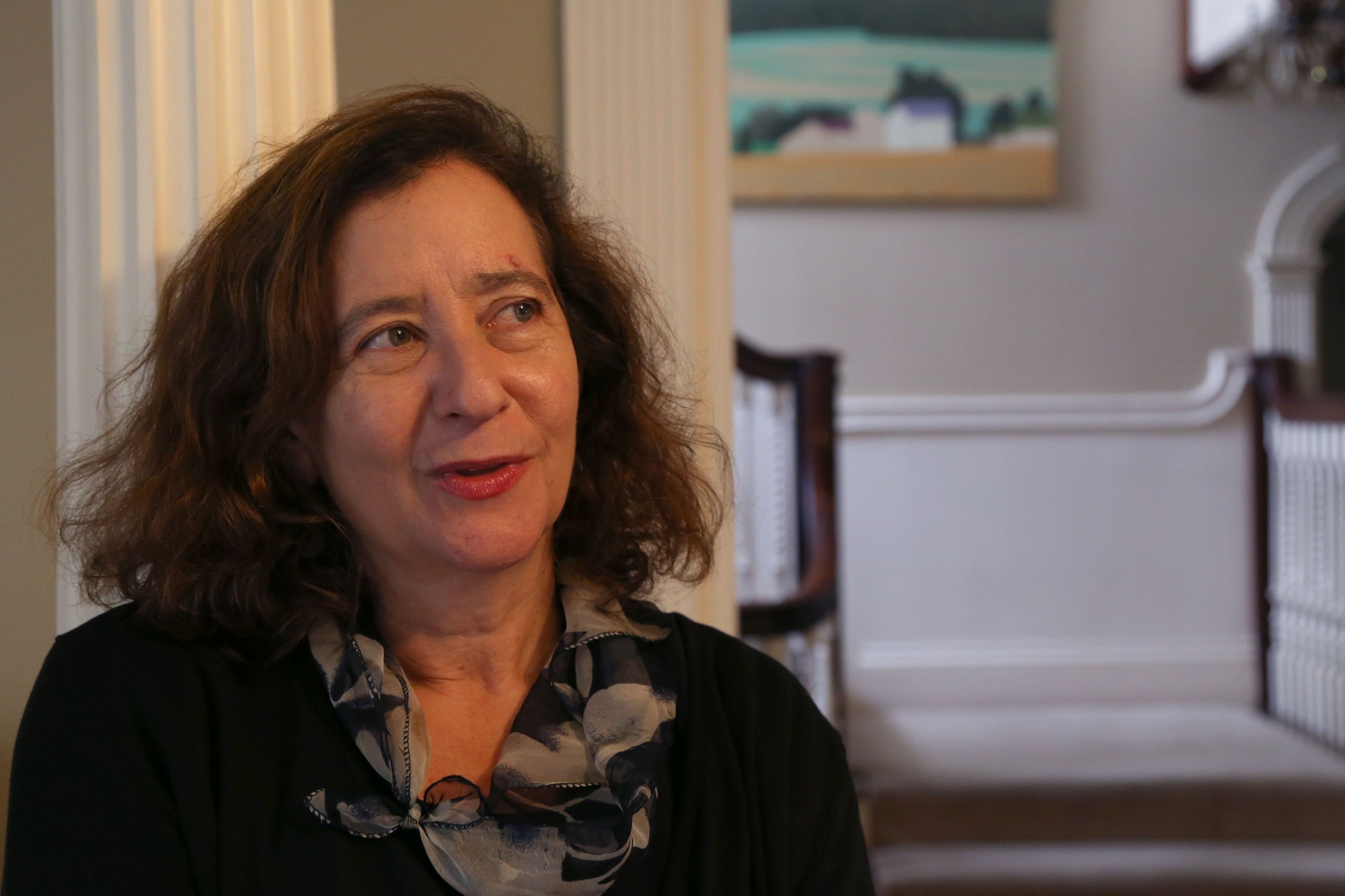 English professor Elisa New spoke during an interview with The Crimson in her home in Brookline in October 2014.