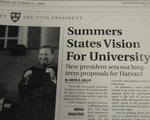 Summers' Vision for the University