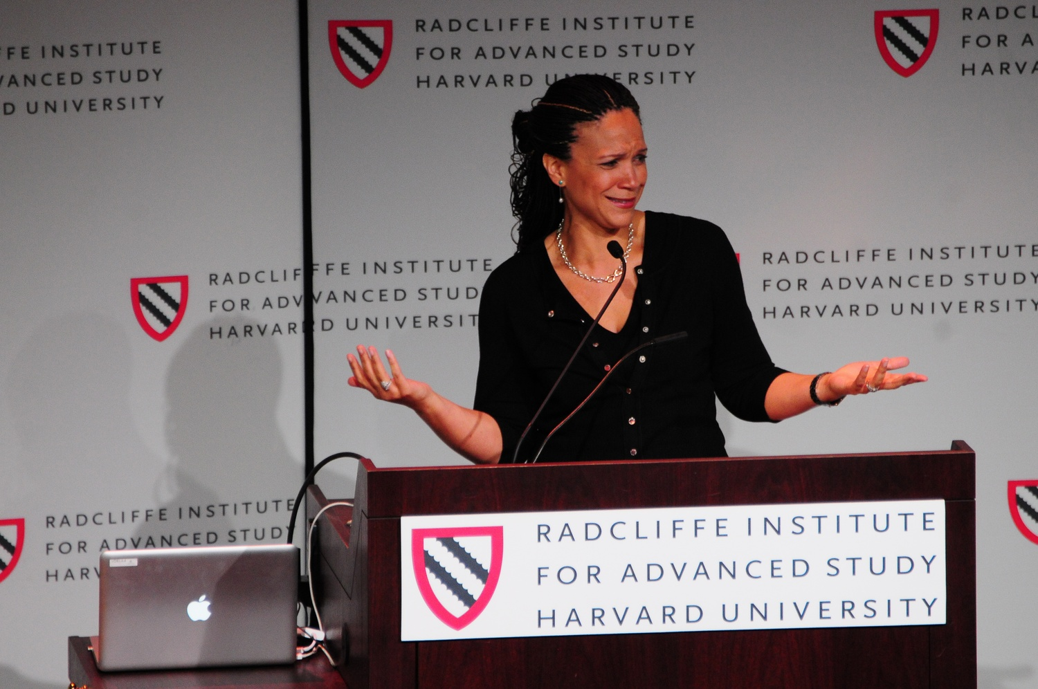 Melissa Harris-Perry, a professor of Political Science at Wake Forest University, spoke Thursday afternoon at the 'Who's Choosin' Who?' lecture at the Knafel Center.