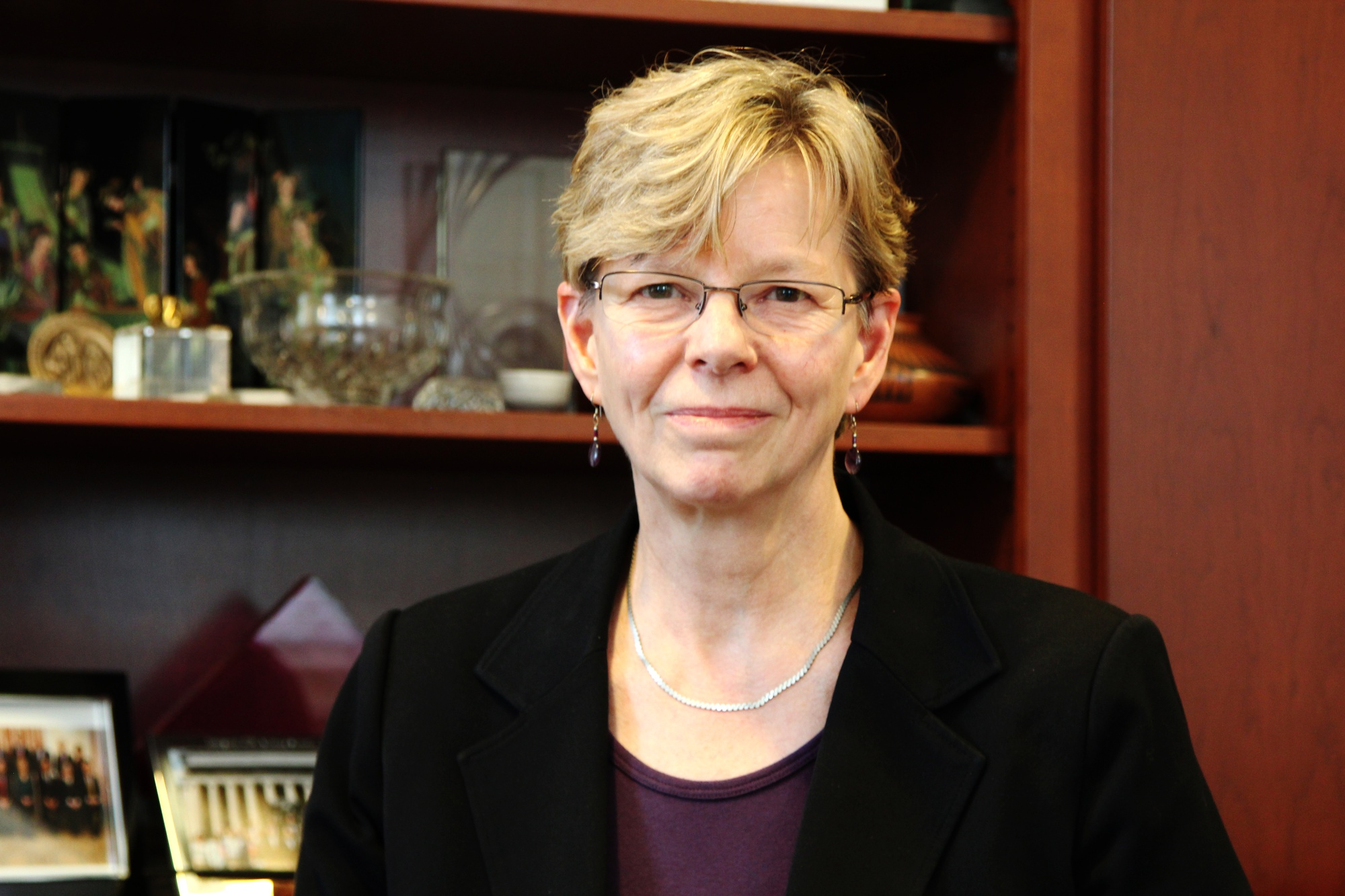 Cherry A. Murray, the dean of School of Engineering and Applied Science, poses in her office Tuesday afternoon, hours after announcing that she will resign after the end of 2014.