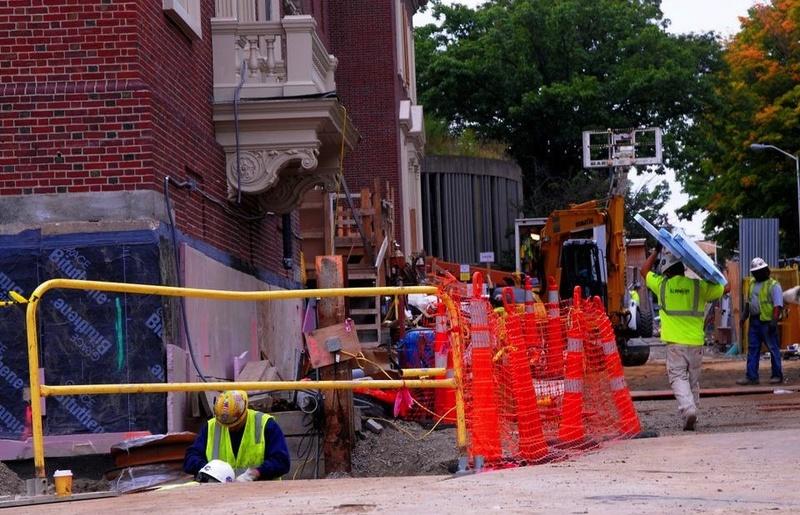 Construction at the Fogg