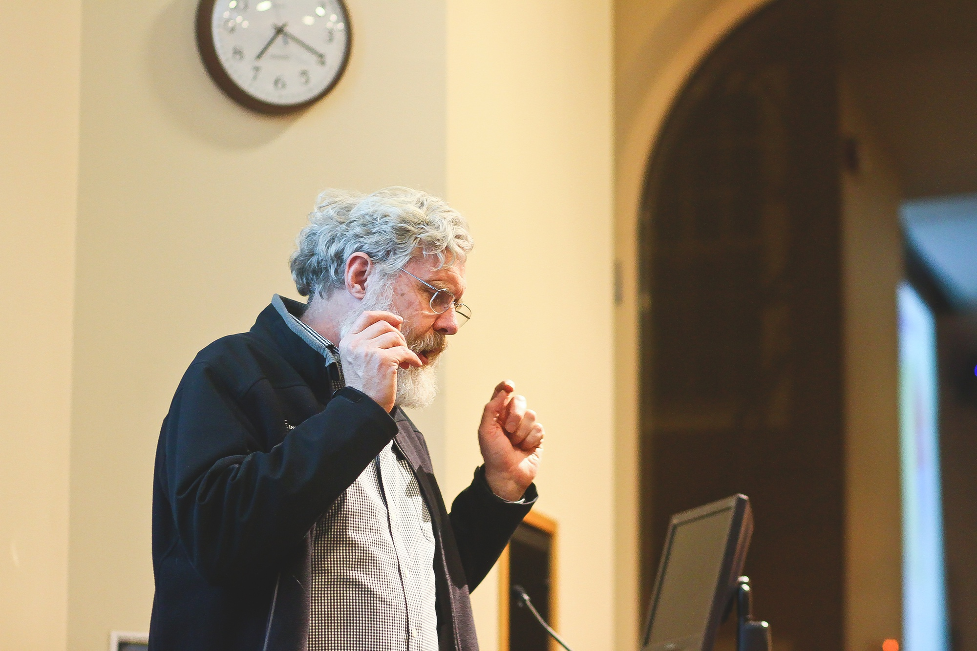"World-renowned geneticist George Church spoke about his research during the lecture ""Wild Biotech,"" a speaker event sponsored by the new club Harvard Biotech Entrepreneurs and Wagamama held in Bolyston Hall on Tuesday evening."