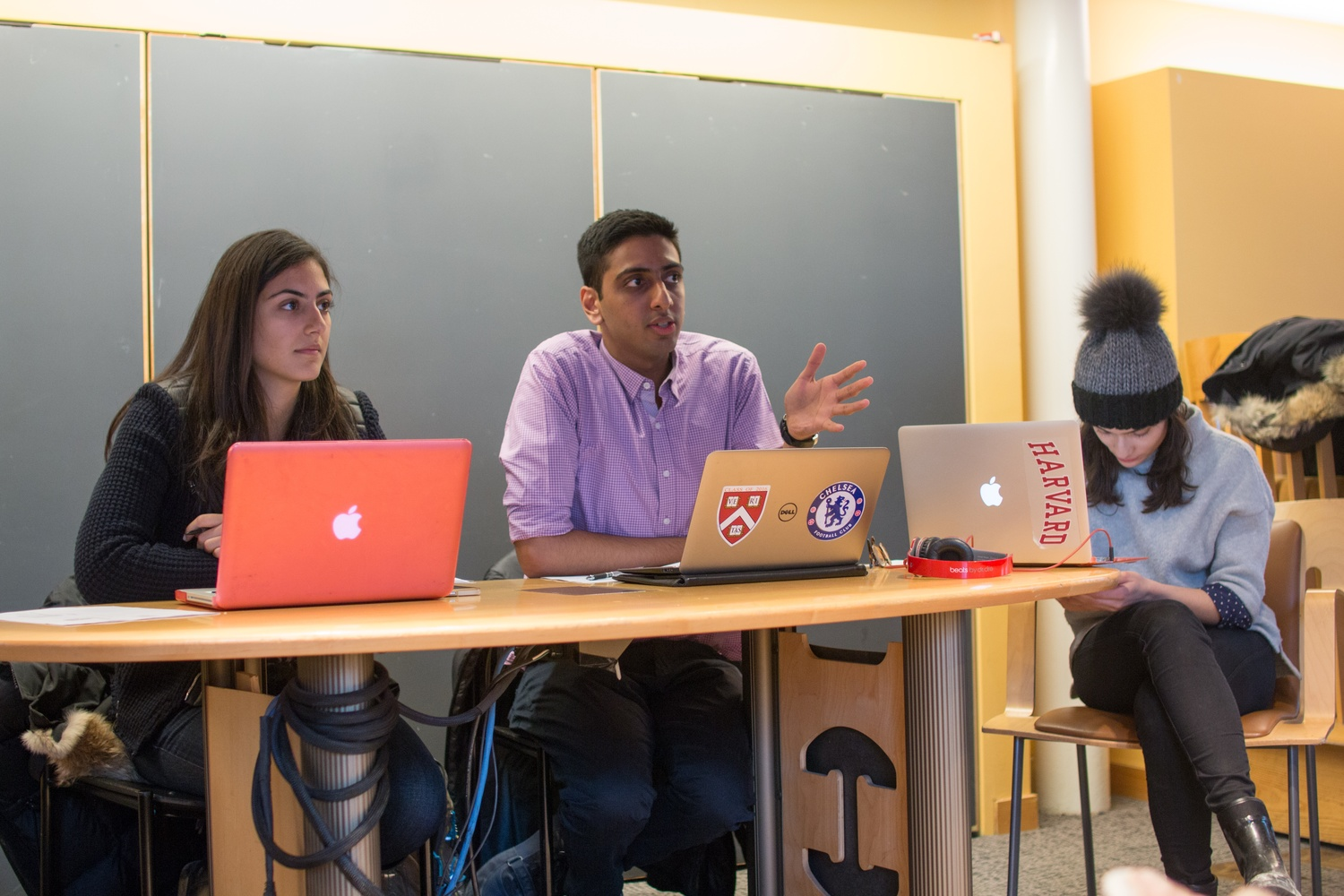 On Feb. 1, Undergraduate Council President Ava Nasrollahzadeh '16 and Vice President Dhruv P. Goyal '16 led the first UC meeting of the semester.