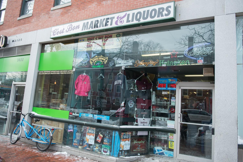 C'est Bon Market & Liquors remained open during blizzard Juno.