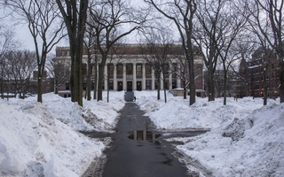 Snow covered Harvard