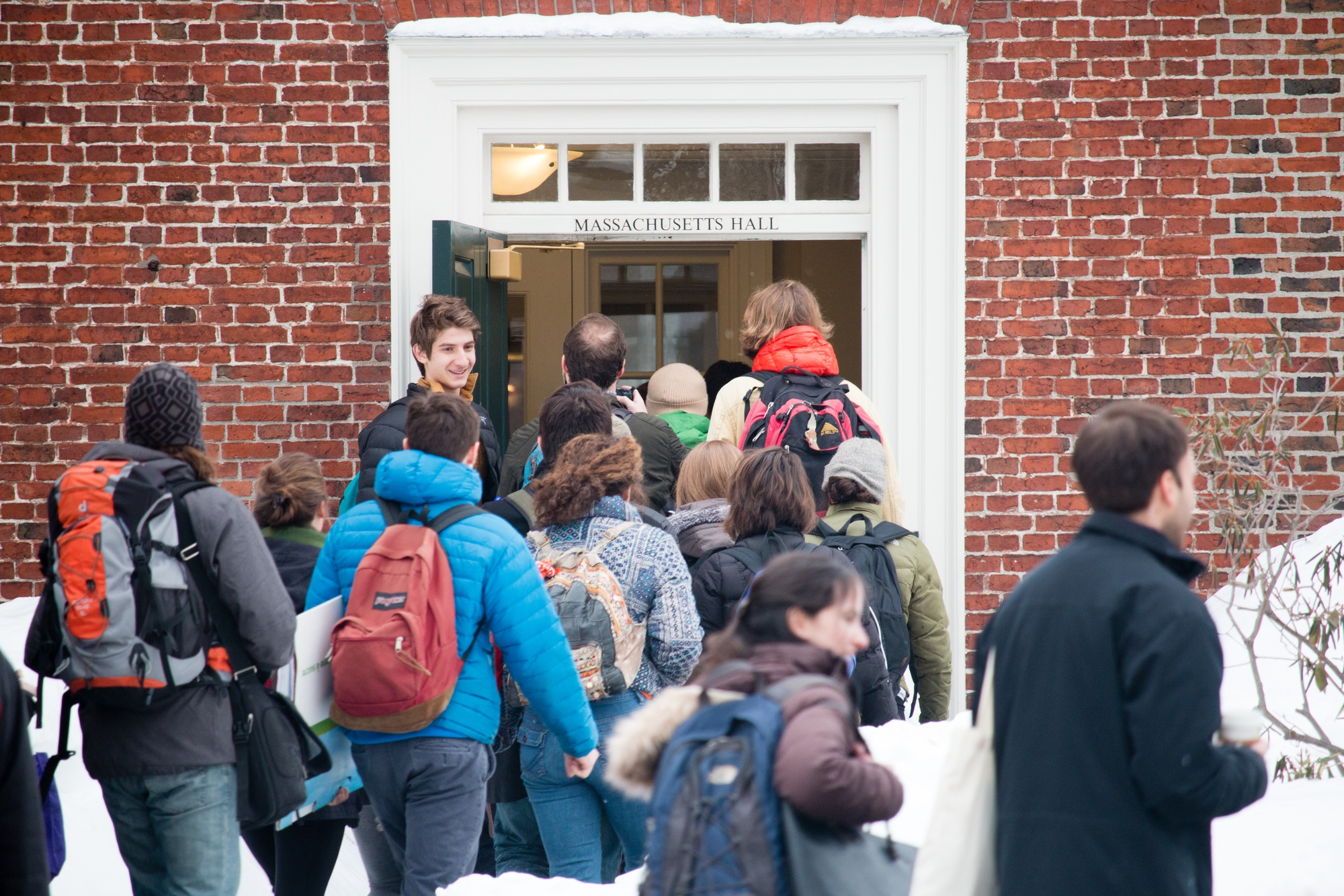 On Feb. 12, at 10AM, around 40 students from Divest Harvard occupied Mass Hall, home to the office of University President Drew Faust .