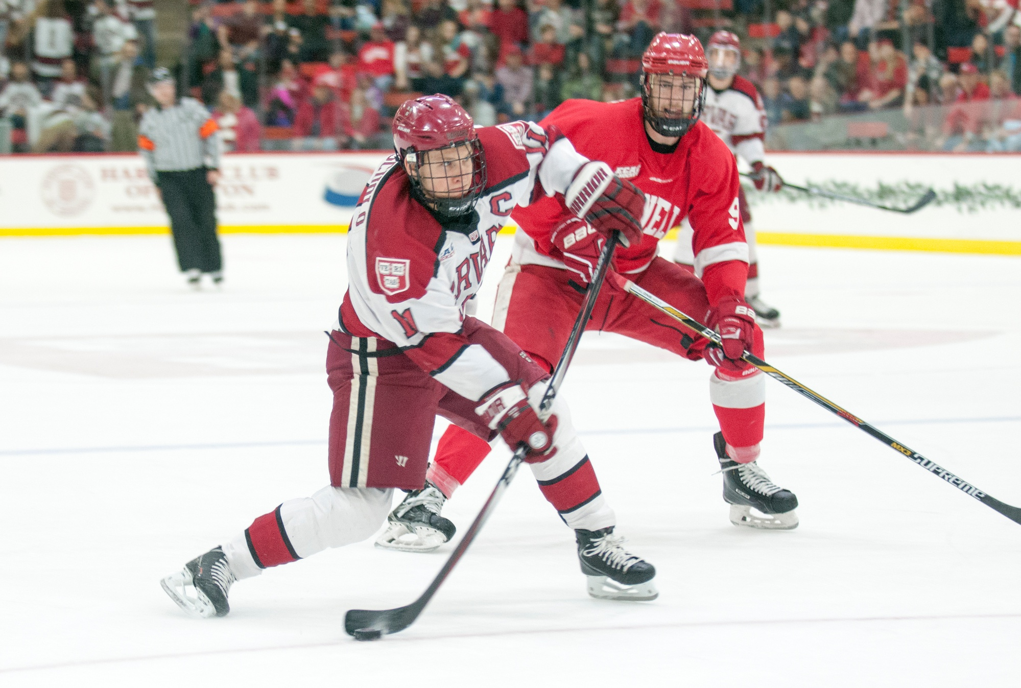 Junior co-captain Kyle Criscuolo scored in the second period of Harvard's 3-3 tie against Cornell.