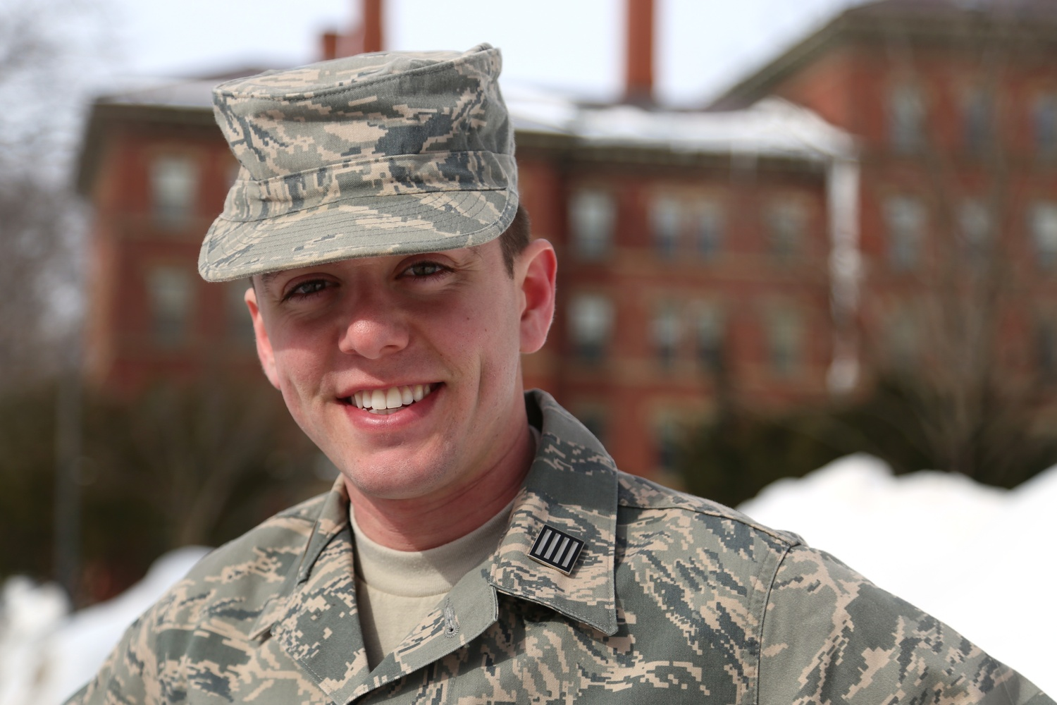 Zander E. Farrow '16 is one of two Air Force ROTC cadets at Harvard.