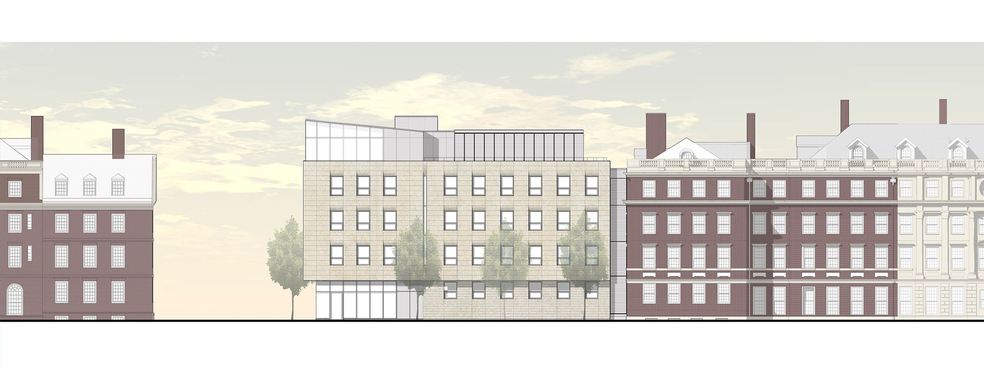 Gore Hall, part of Winthrop House, will undergo an addition in 2016-2017 as part of the College's House Renewal program. Dean of the College Rakesh Khurana said that an ultimate goal of house renewal is to phase out student overflow housing on DeWolfe Street.