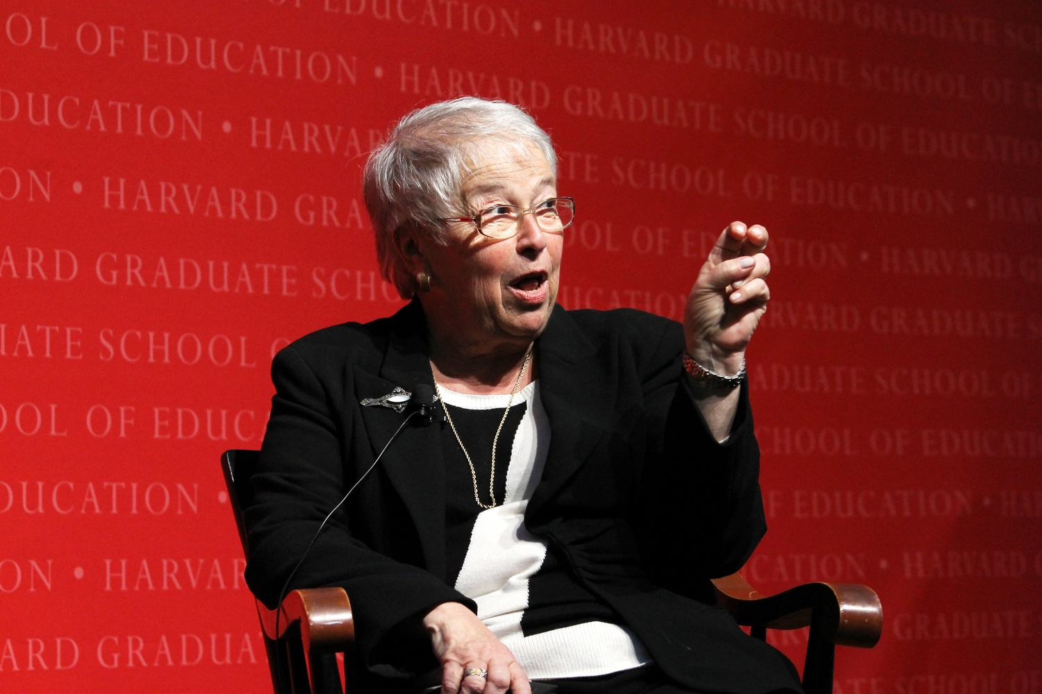 Carmen Fariña, New York City Schools Chancellor, discusses a controversial new admissions process for the city's specialized high schools at the Graduate School of Education's Askwith Forum on Thursday evening.