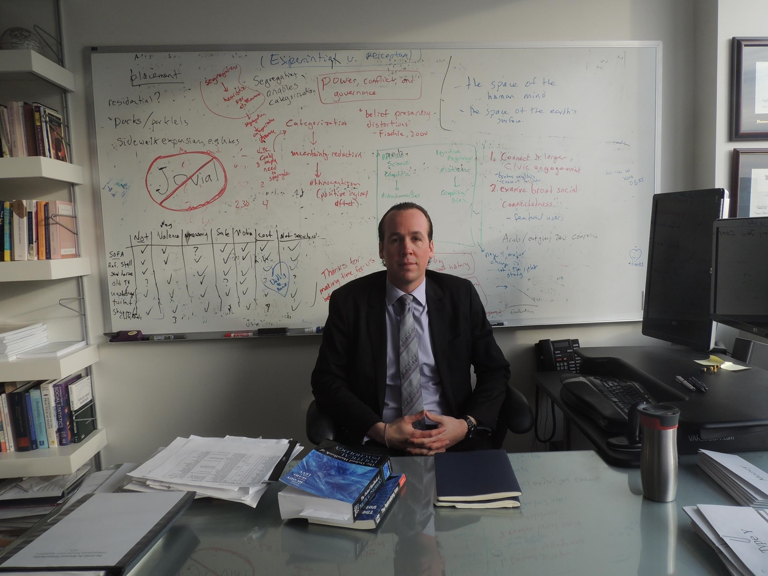 Government professor Ryan D. Enos in his office in 2015.