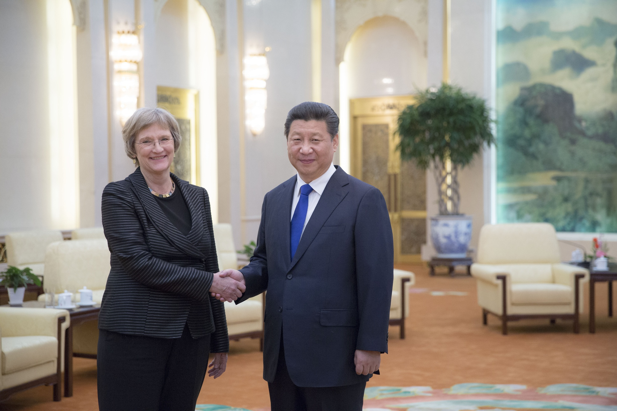University President Drew G. Faust with President of China Xi Jinping