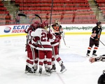 December 5, 2014 - Harvard 3, Princeton 0: The Crimson celebrates one of its three goals on the day.