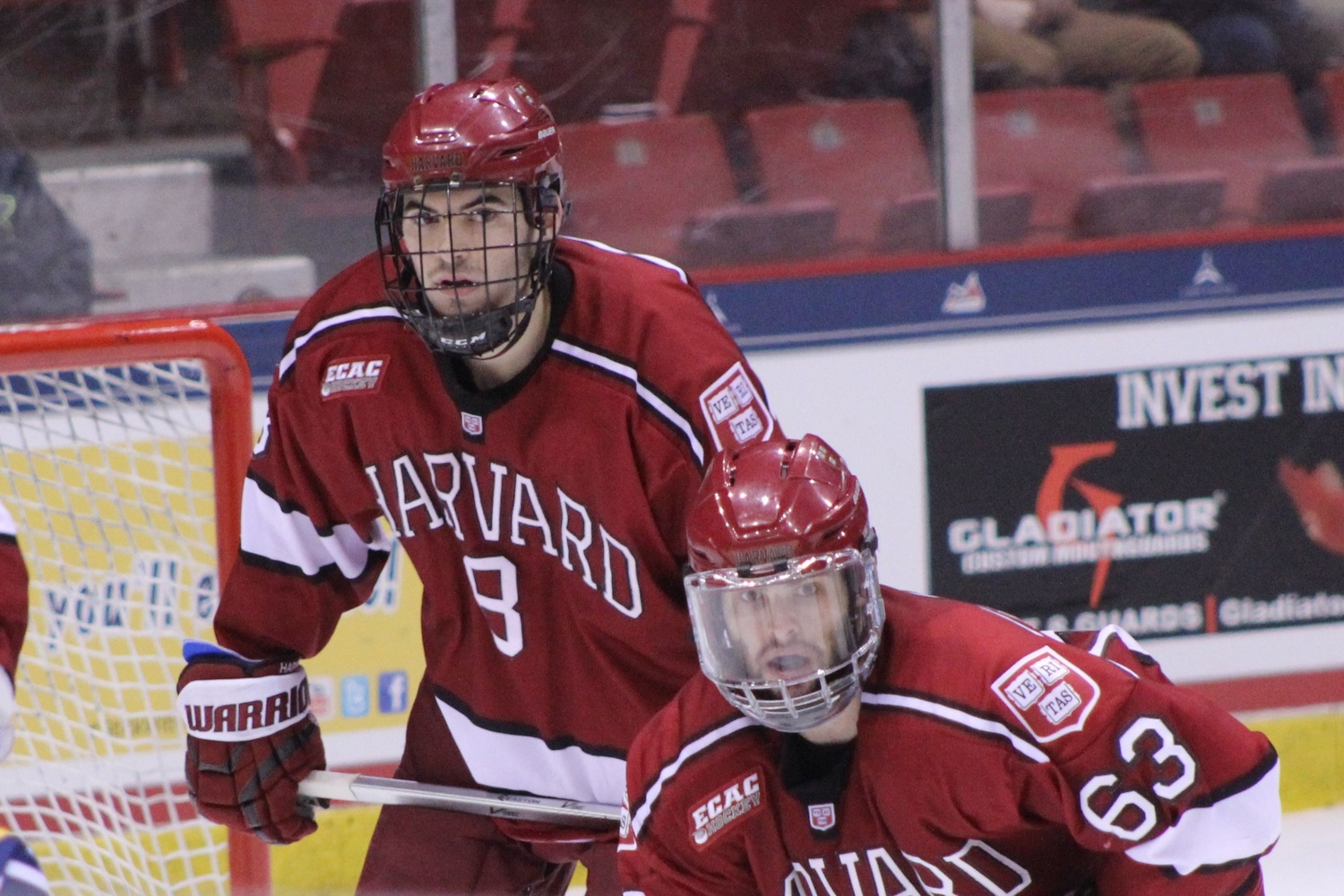 Defenseman Patrick McNally (left) and forward Colin Blackwell will see playing time against Colgate for the first time this season in the ECAC tournament final on Saturday.