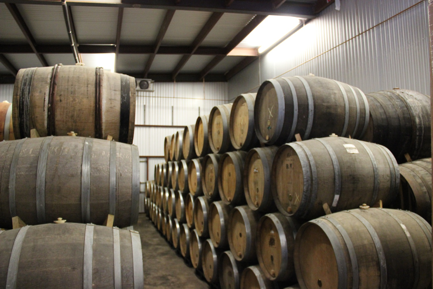 I also took a tour of Jester King Brewery in the outskirts of Austin, Texas. Their barrel room houses unique fermented beers that are undergoing an aging process.