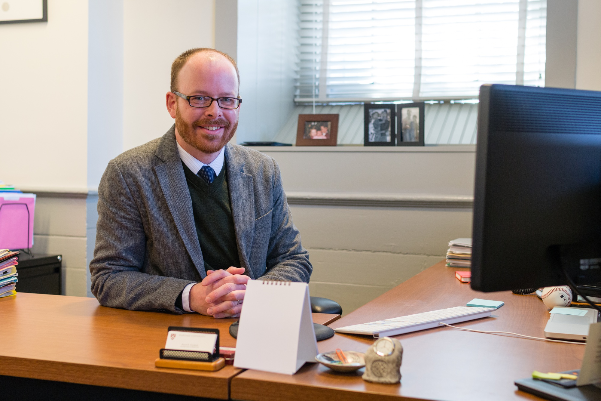 Associate Dean of Student Life David R. Friedrich poses for a photo in his office in University Hall.